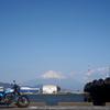 富士色のオートバイ