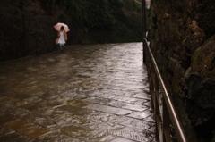 雨のオランダ坂