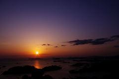 九十九島×夕日