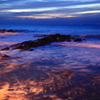 夜明けの海岸、