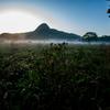 朝霧の高原 榛名山