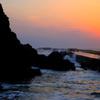 犬岩の夕景