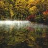 旅の思い出、夜明けの湖畔