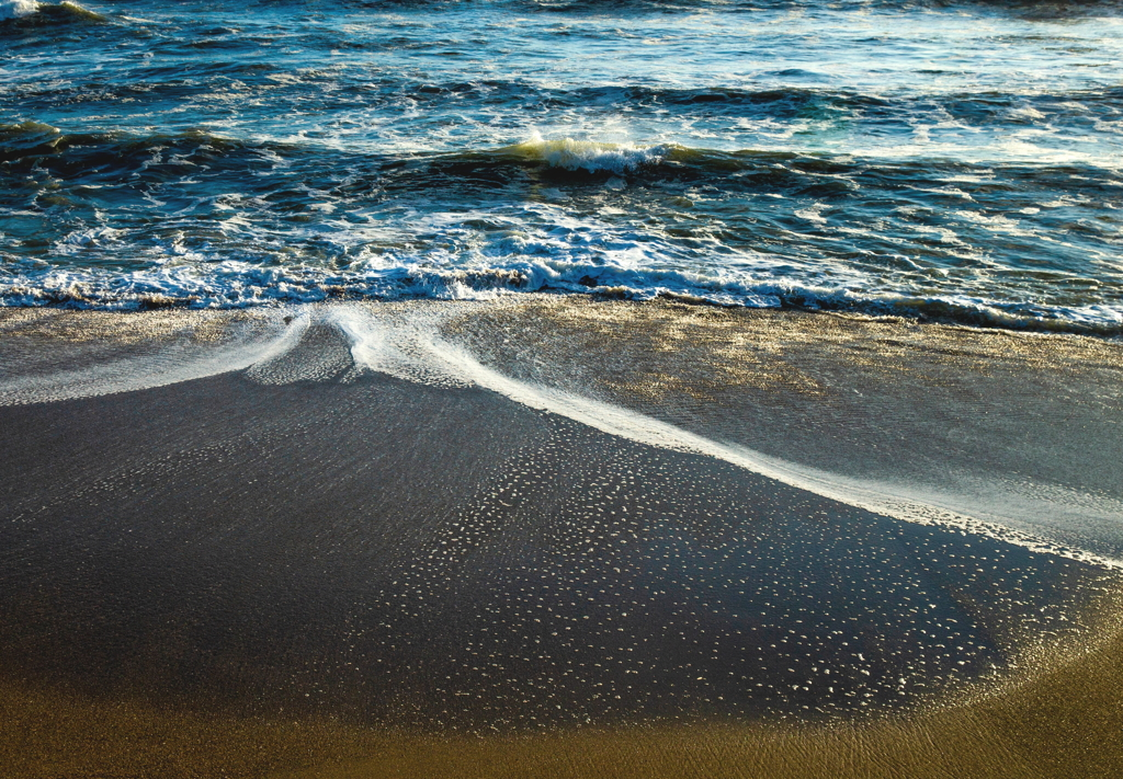 海岸散歩、砂遊び、