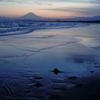 夕暮れ時の波模様