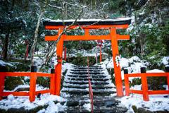 雪の貴船神社 Ⅵ