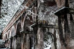 雪の水路閣
