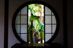 建仁寺の丸窓