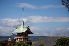 高台寺前からの眺望。