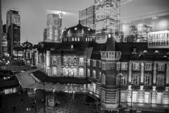 旧東京中央郵便局長室からの眺め