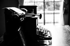 書斎のタイプライター