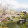 伏見の春景 -酒蔵と十石船