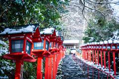 雪の貴船神社 Ⅱ