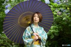 和傘と浴衣と