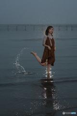 小雨降る海2