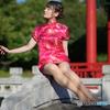 中国庭園の別嬪さん3