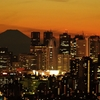 高層ビルと富士山