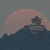 満月と岐阜城