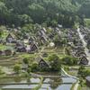 新緑の合掌村(城山展望台から)