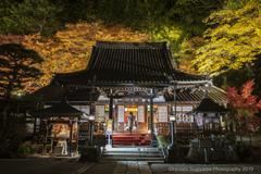 下呂温泉寺2019紅葉ライトアップ