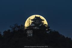 平成最後の岐阜城と満月