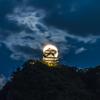 The Gifu castle and the full moon 水無月②
