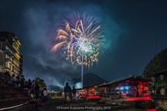長良川鵜飼の開幕花火