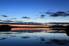 夜明け前の浜名湖