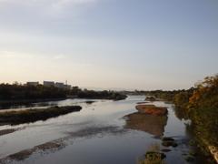 朝の武庫川