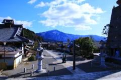 """冬の借景""""比叡山"""""""
