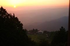比叡山の夕暮れ