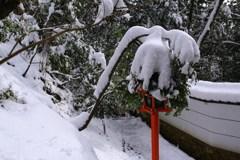 雪オブジェ*花飾り*