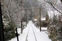 雪の中電車は行く