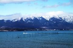 琵琶湖の寒風