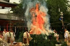 山伏による火焚祭