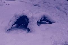 雪オブジェ*目覚めたサンタさん*
