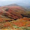 紅葉の栗駒山山頂から
