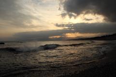 こゆるぎの浜・夕景