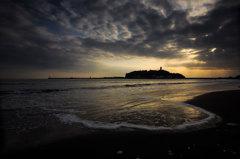 黄昏の江ノ島 Ⅰ