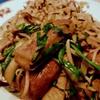 豆腐とマッシュルームとニラの炒め物