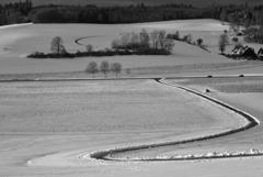 田舎の雪景色1