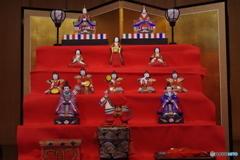 桃の節句-土人形のひな飾り1