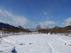 青空の雪景色-1