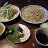 盛蕎麦と野菜天ぷら