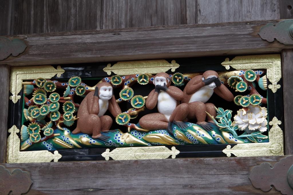 日光東照宮の猿
