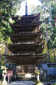 国宝・羽黒山五重の塔