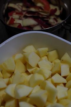 紅玉林檎でジャムづくり-2