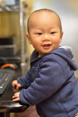 満10ヶ月の笑顔