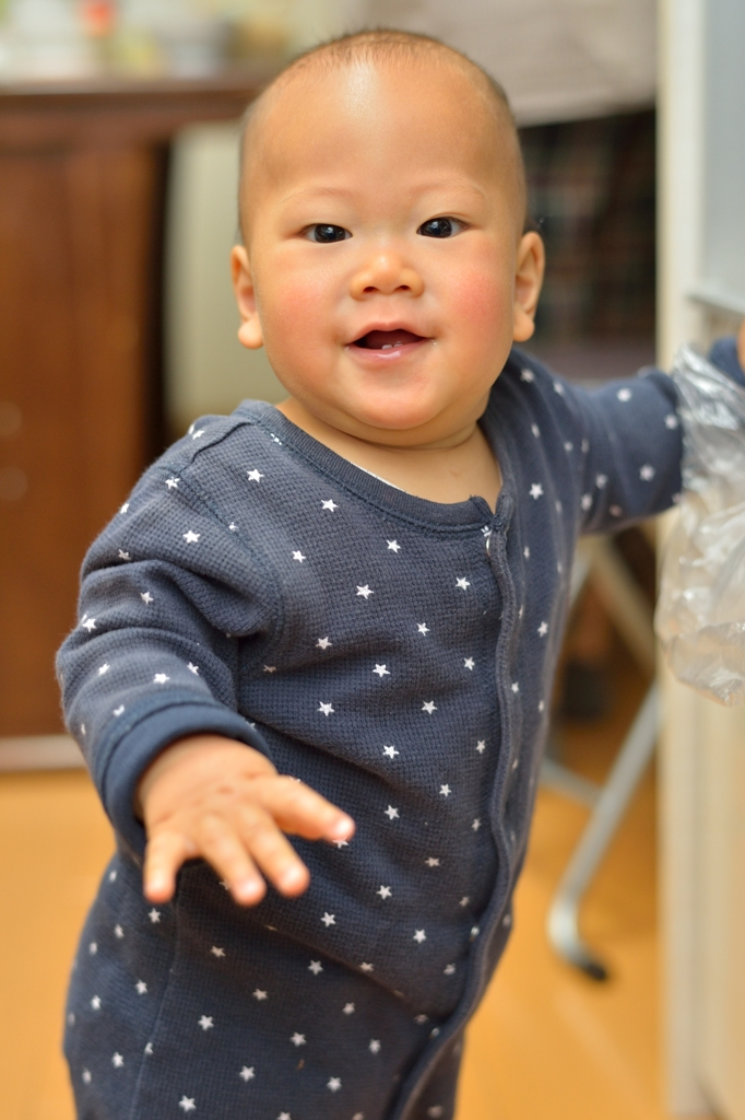 満9ヶ月の笑顔