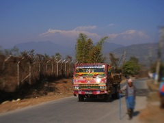 Annapurna through city road
